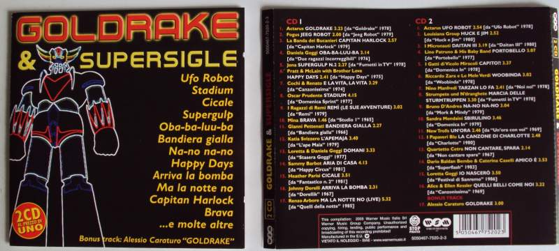 GOLDRAKE E SUPERSIGLE ( 2 CD )